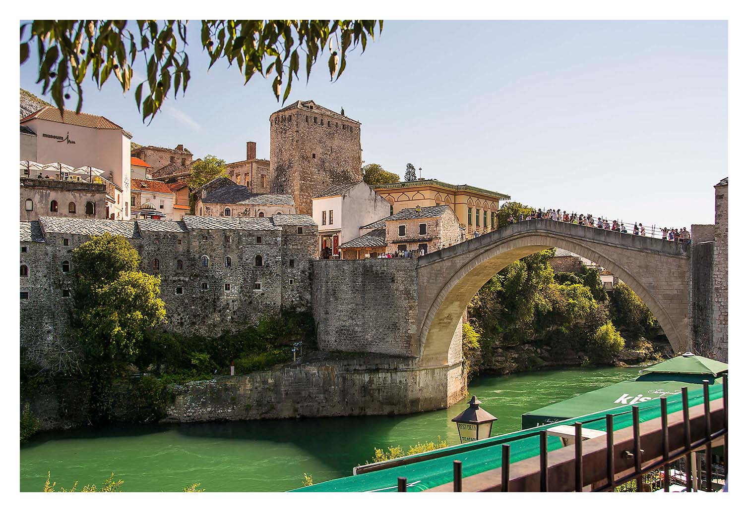 The charming old city of Mostar with its narrow cobbled streets and featuring the famous old bridge, built in the 16th century by the Ottomans, Destroyed in the war of 1993 and rebuilt in 2003-2004 and had a grand opening in July 2004.?