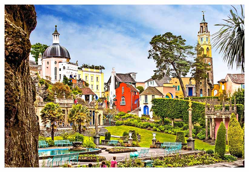 Portmeirion is a popular tourist village in Gwynedd, North Wales. It was designed and built by Sir Clough Williams-Ellis between 1925 and 1975 in the style of an Italian village and is now owned by a charitable trust... Click to view...